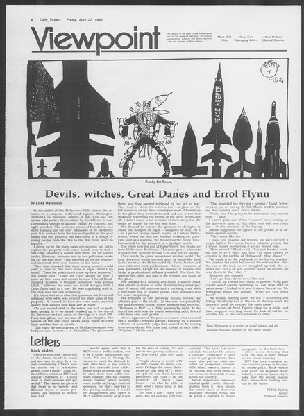 Daily Trojan, Vol. 93, No. 64, April 22, 1983