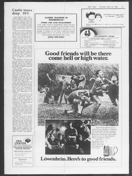 Daily Trojan, Vol. 93, No. 50, March 24, 1983