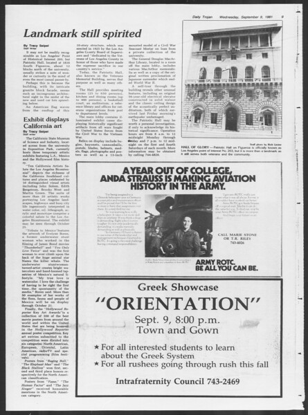 Daily Trojan, Vol. 91, No. 6, September 09, 1981
