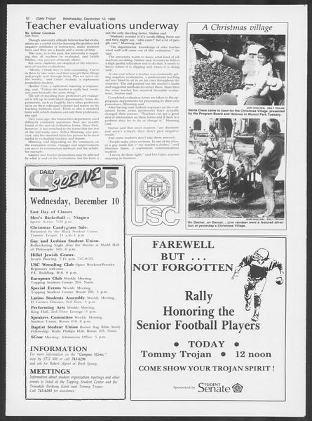 Daily Trojan, Vol. 102, No. 68, December 10, 1986