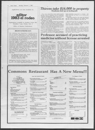 Daily Trojan, Vol. 91, No. 15, February 01, 1982