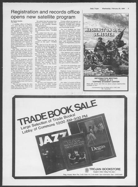 Daily Trojan, Vol. 95, No. 35, February 29, 1984