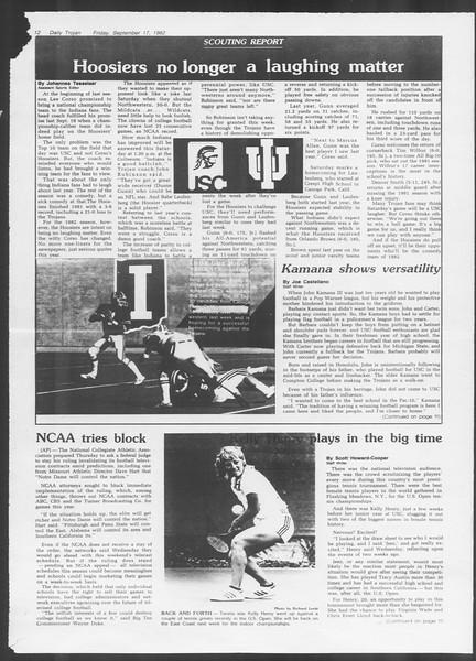 Daily Trojan, Vol. 92, No. 9, September 17, 1982