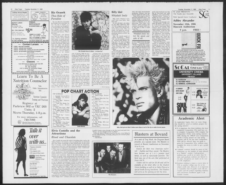 Daily Trojan, Vol. 102, No. 50, November 11, 1986