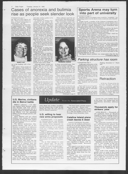 Daily Trojan, Vol. 95, No. 16, January 31, 1984