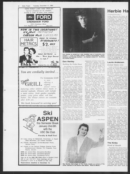 Daily Trojan, Vol. 97, No. 67, December 11, 1984