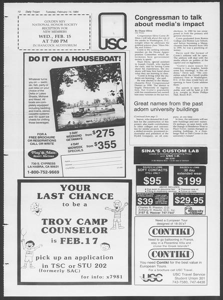 Daily Trojan, Vol. 95, No. 26, February 14, 1984