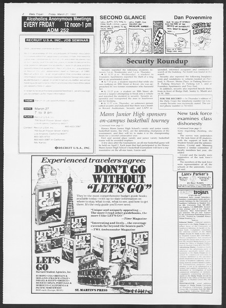 Daily Trojan, Vol. 100, No. 49, March 21, 1986