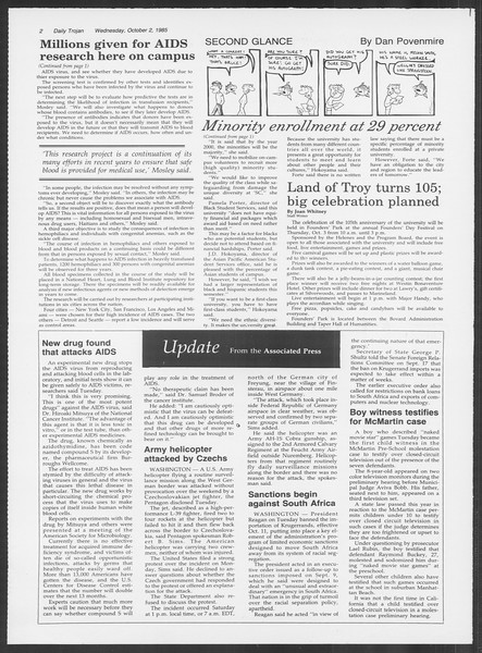 Daily Trojan, Vol. 100, No. 22, October 02, 1985