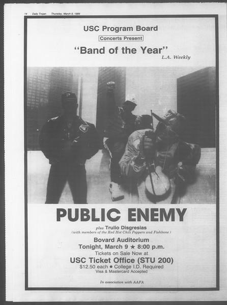 Daily Trojan, Vol. 108, No. 38, March 09, 1989