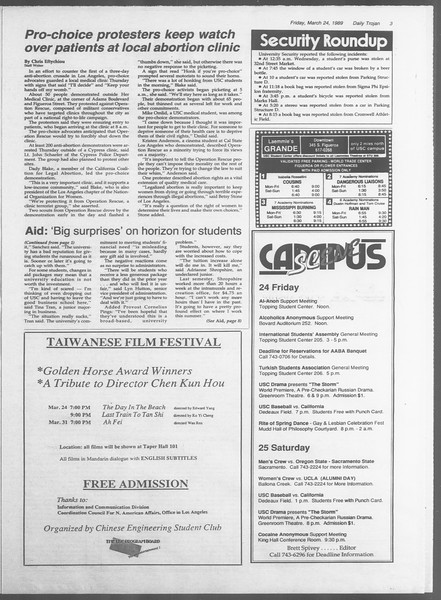 Daily Trojan, Vol. 108, No. 49, March 24, 1989