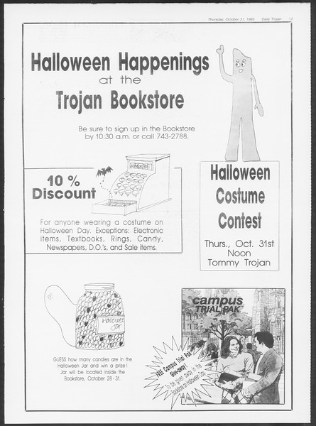 Daily Trojan, Vol. 100, No. 43, October 31, 1985