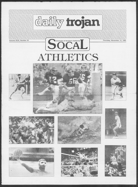 Daily Trojan, Vol. 100, No. 50, November 14, 1985
