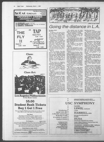 Daily Trojan, Vol. 108, No. 32, March 01, 1989