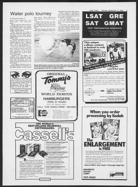 Daily Trojan, Vol. 97, No. 10, September 17, 1984