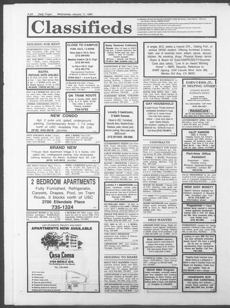 Daily Trojan, Vol. 108, No. 1, January 11, 1989