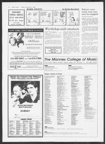 Daily Trojan, Vol. 100, No. 47 [sic], November 08, 1985