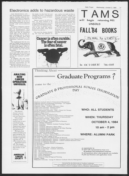 Daily Trojan, Vol. 97, No. 22, October 03, 1984