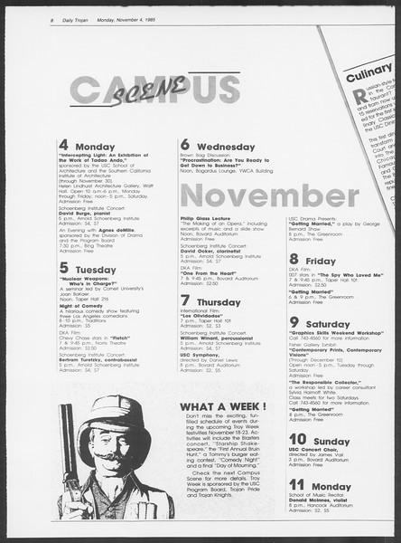 Daily Trojan, Vol. 100, No. 45, November 04, 1985