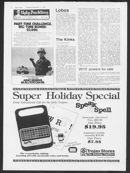 Daily Trojan, Vol. 97, No. 67, December 11, 1984