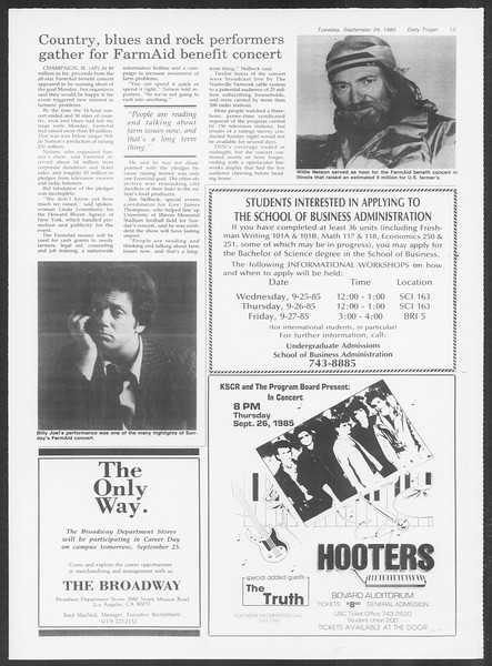 Daily Trojan, Vol. 100, No. 16, September 24, 1985