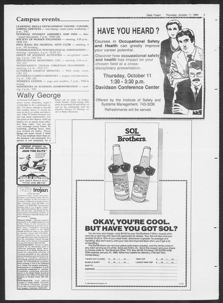 Daily Trojan, Vol. 97, No. 28, October 11, 1984