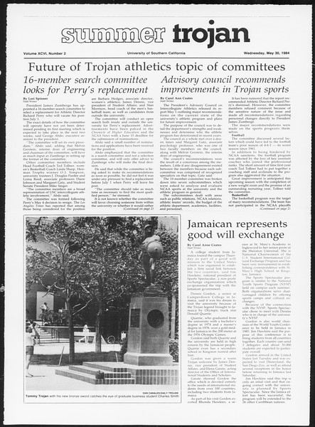 Summer Trojan, Vol. 96, No. 2, May 30, 1984