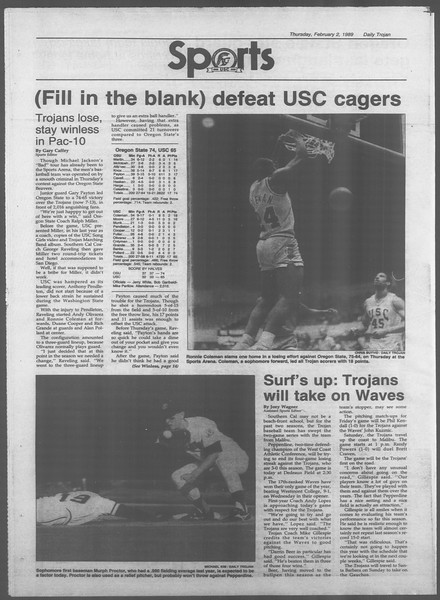 Daily Trojan, Vol. 108, No. 16, February 03, 1989