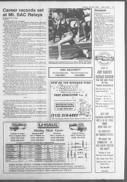 Daily Trojan, Vol. 108, No. 65, April 25, 1989
