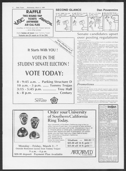 Daily Trojan, Vol. 100, No. 37, March 05, 1986