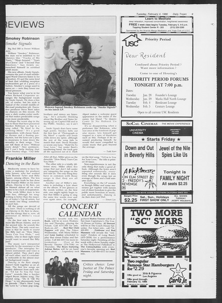 Daily Trojan, Vol. 100, No. 18, February 04, 1986