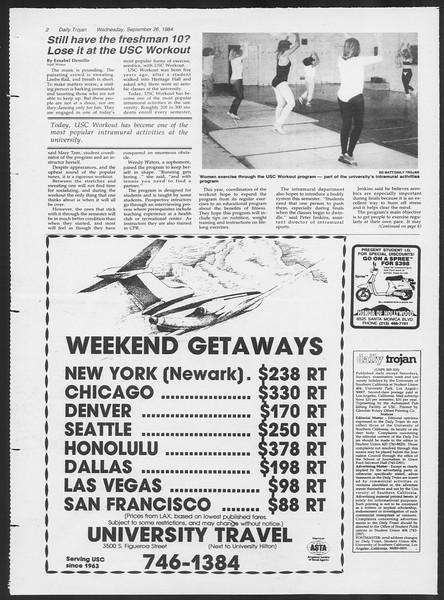 Daily Trojan, Vol. 97, No. 17, September 26, 1984