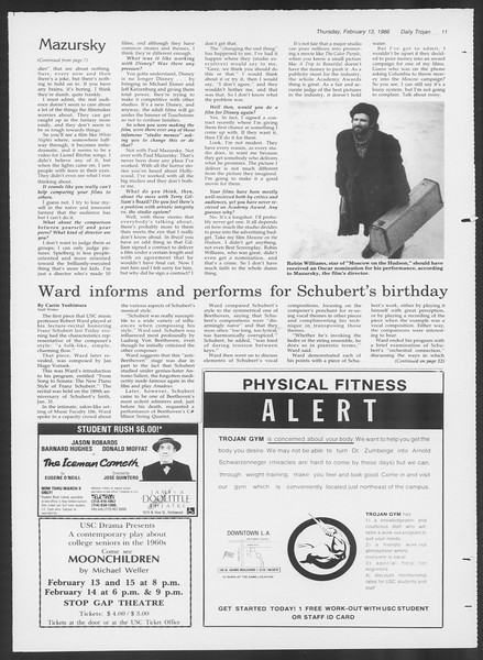 Daily Trojan, Vol. 100, No. 25, February 13, 1986
