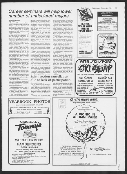 Daily Trojan, Vol. 97, No. 37, October 24, 1984