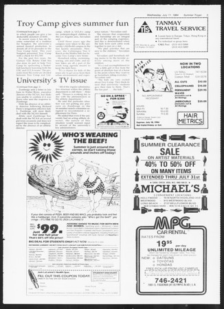 Summer Trojan, Vol. 96, No. 7, July 11, 1984