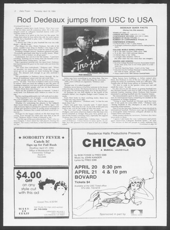 Daily Trojan, Vol. 95, No. 65, April 19, 1984