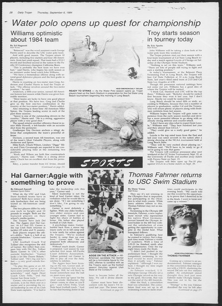 Daily Trojan, Vol. 97, No. 3, September 06, 1984