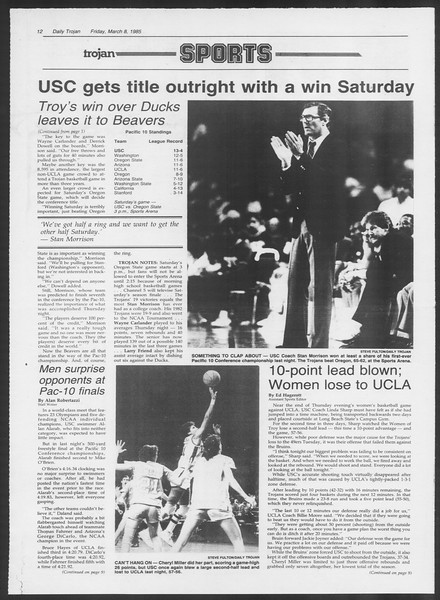 Daily Trojan, Vol. 98, No. 39, March 08, 1985