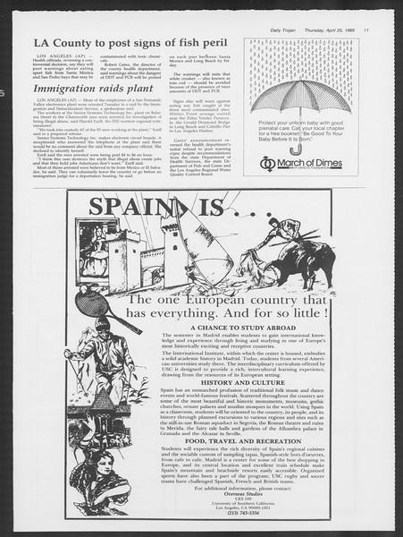 Daily Trojan, Vol. 98, No. 67, April 25, 1985
