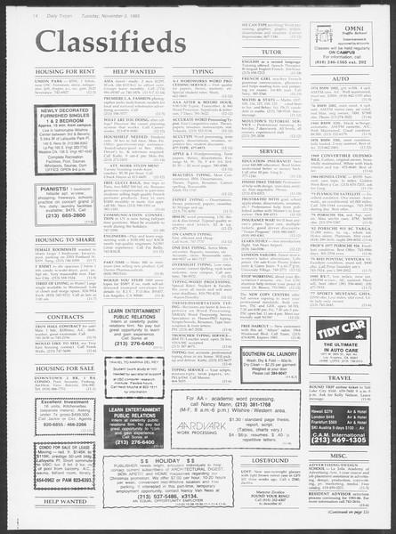 Daily Trojan, Vol. 100, No. 46, November 05, 1985
