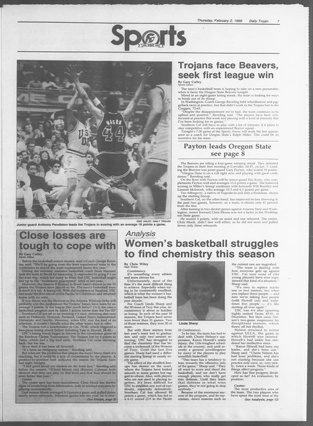 Daily Trojan, Vol. 108, No. 15, February 02, 1989