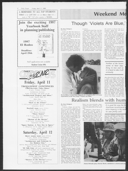 Daily Trojan, Vol. 100, No. 58, April 11, 1986