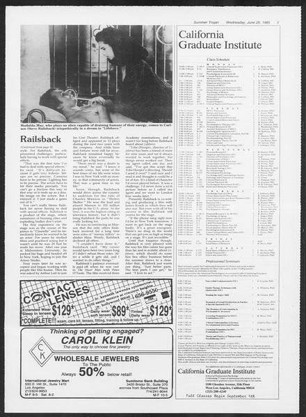 Summer Trojan, Vol. 99, No. 6, June 26, 1985