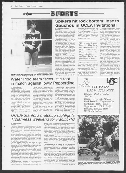 Daily Trojan, Vol. 100, No. 29, October 11, 1985