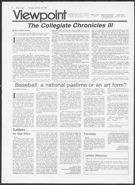 Daily Trojan, Vol. 100, No. 36, October 22, 1985