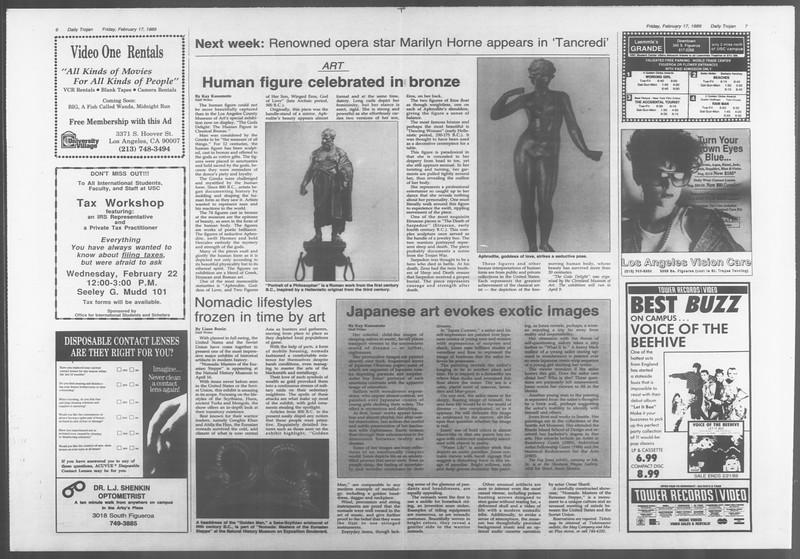 Daily Trojan, Vol. 108, No. 26, February 17, 1989