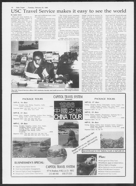 Daily Trojan, Vol. 100, No. 31, February 25, 1986
