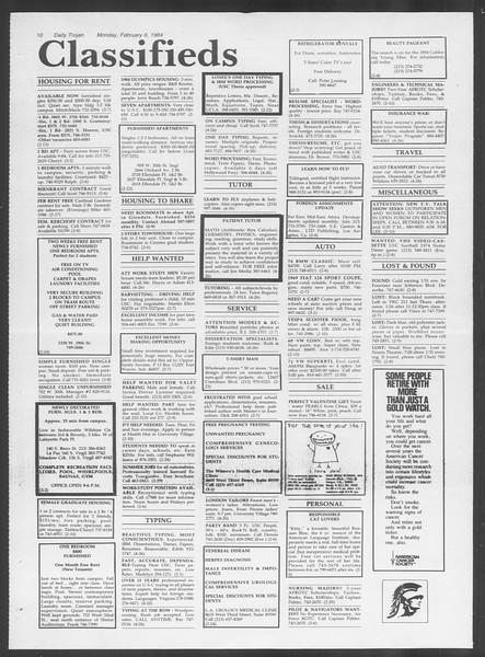 Daily Trojan, Vol. 95, No. 20, February 06, 1984