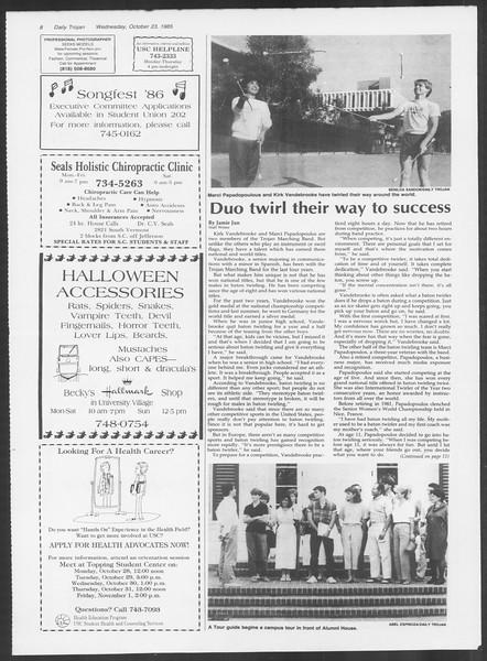 Daily Trojan, Vol. 100, No. 37, October 23, 1985