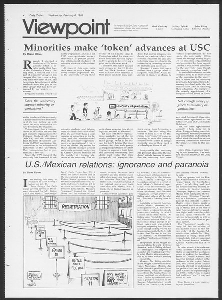 Daily Trojan, Vol. 98, No. 19, February 06, 1985